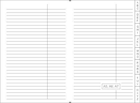 x17 register adressregister und datenregister f r notizbuch ringbuch terminplaner a7 a6 a5. Black Bedroom Furniture Sets. Home Design Ideas
